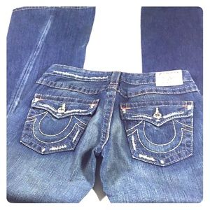True Religion Joey Distressed Flare Jeans Size 30